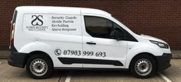 Security Services in Birmingham, Sumos Security Solutions van